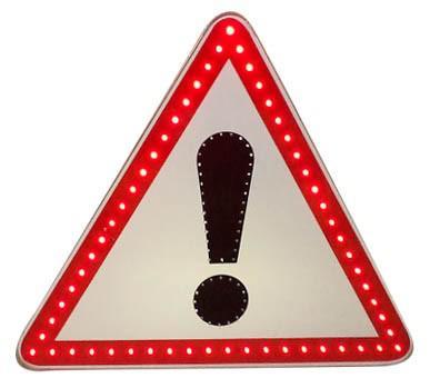 Знак светодиодный (1.33), 12В А=900мм, металл оцинк., 0,8мм (без канта / с кантом)