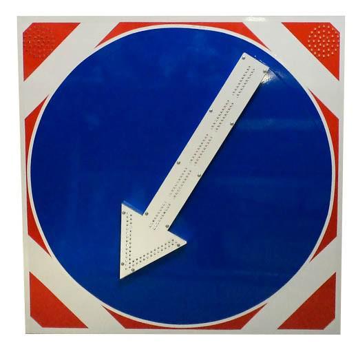 Знак светодиодный (4.2.1-4.2.2) 1200x1200мм, 4 стробоскопа, (без канта / с кантом) (поворотная стрелка)