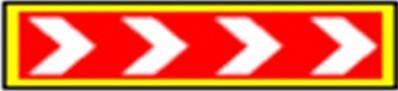 Знак предремонтной зоны 700х2450