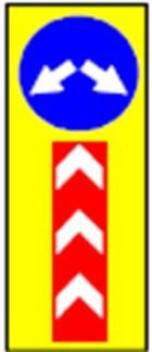 Знак предремонтной зоны 2700х900