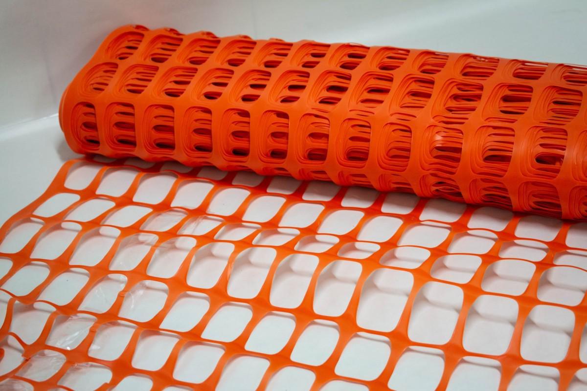 Пластиковая сетка для ограждения, рулон 1х50м - ячейка 35х55 мм