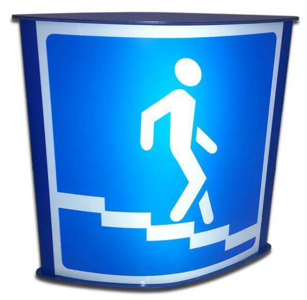 Дорожный знак с внутренней подсветкой по периметру, 700x700 мм, 12В; оцинкованная стойка d57 мм, крепежи в комплекте