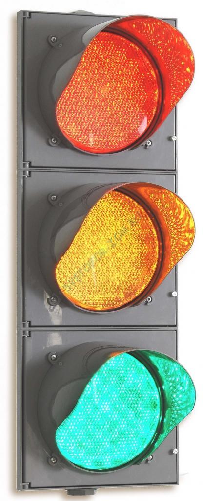Светофор светодиодный Т.1.2., d300мм, с обратным отсчетом времени (крепление в комплекте)