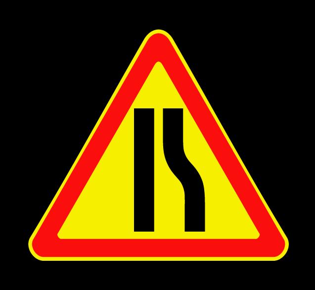 Сужение дороги справа 1.20.2 (временный)