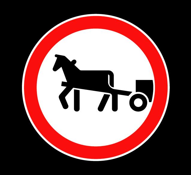 Движение гужевых повозок запрещено 3.8