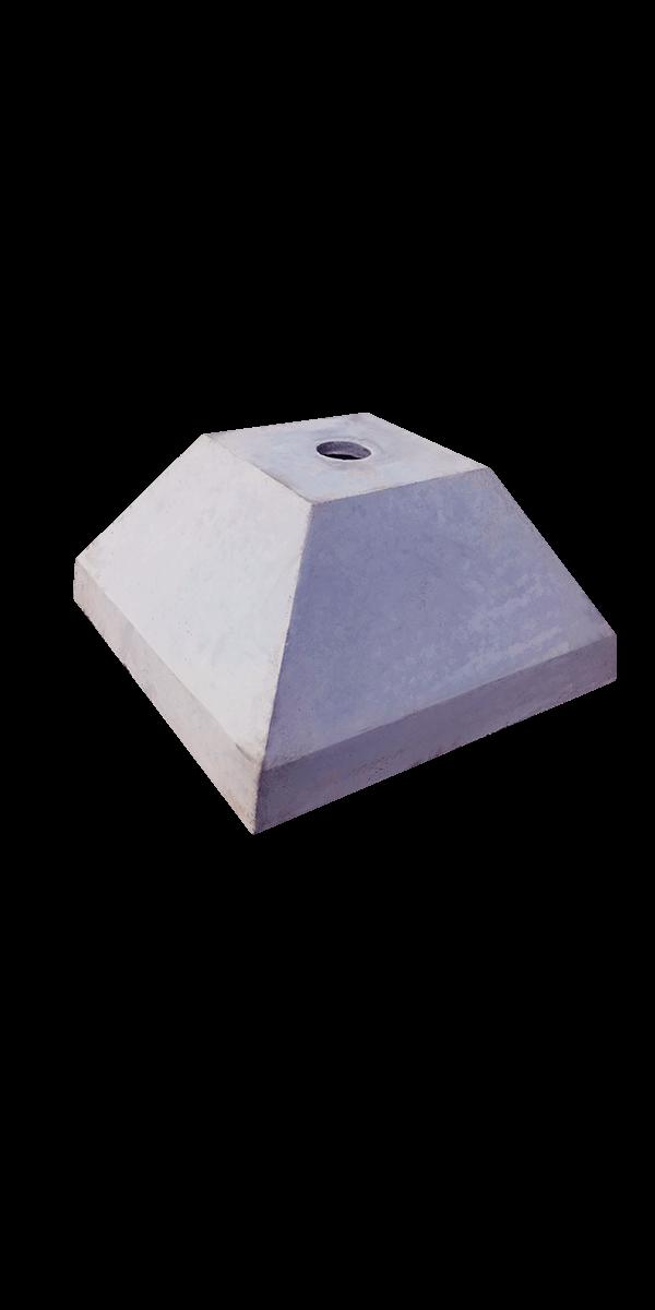 Основание знака железобетонное 600x300, диаметр стойки 57-76 мм