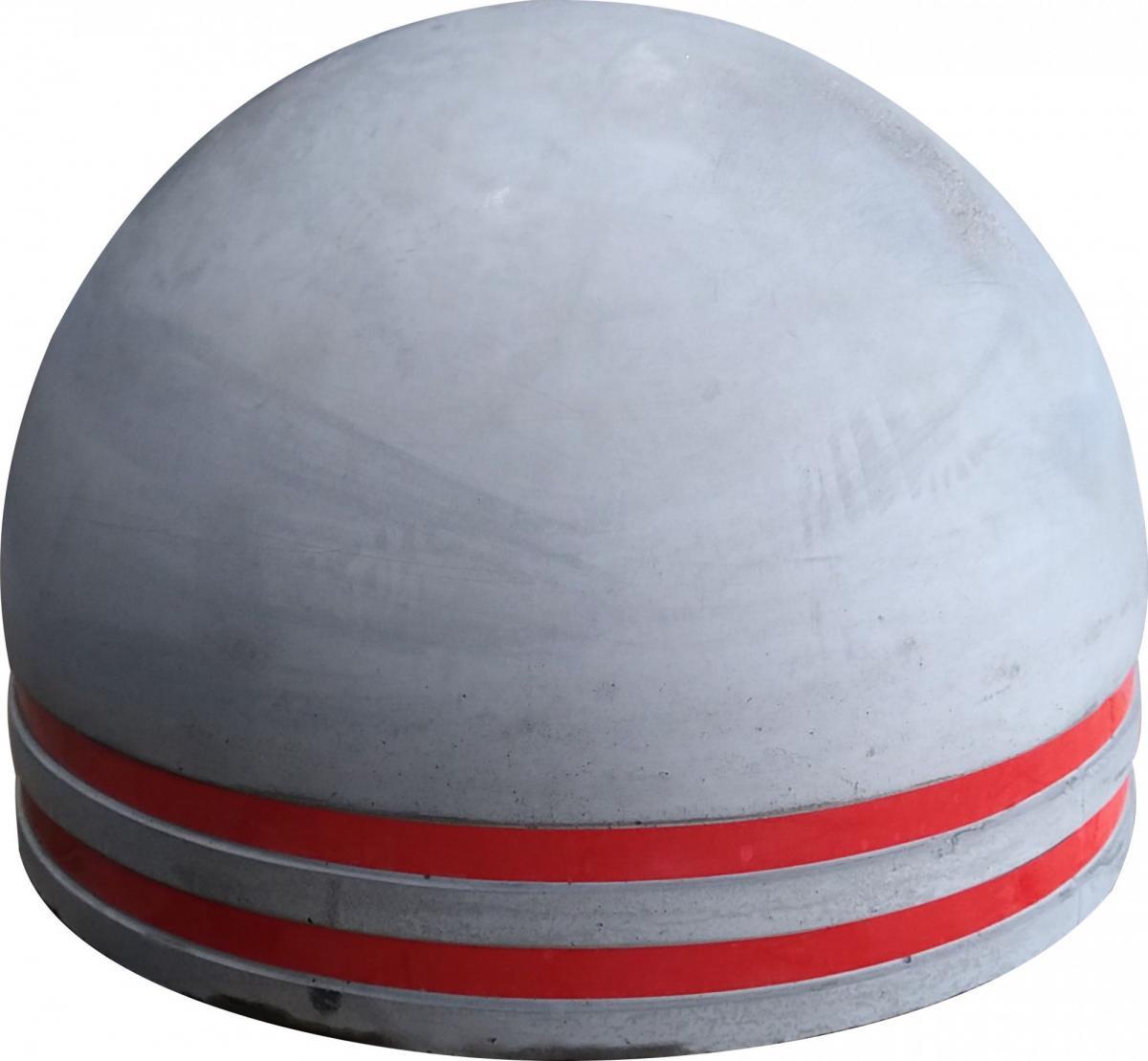 Полусфера бетонная d500х340 мм увеличенная с двумя световозвращающими полосами