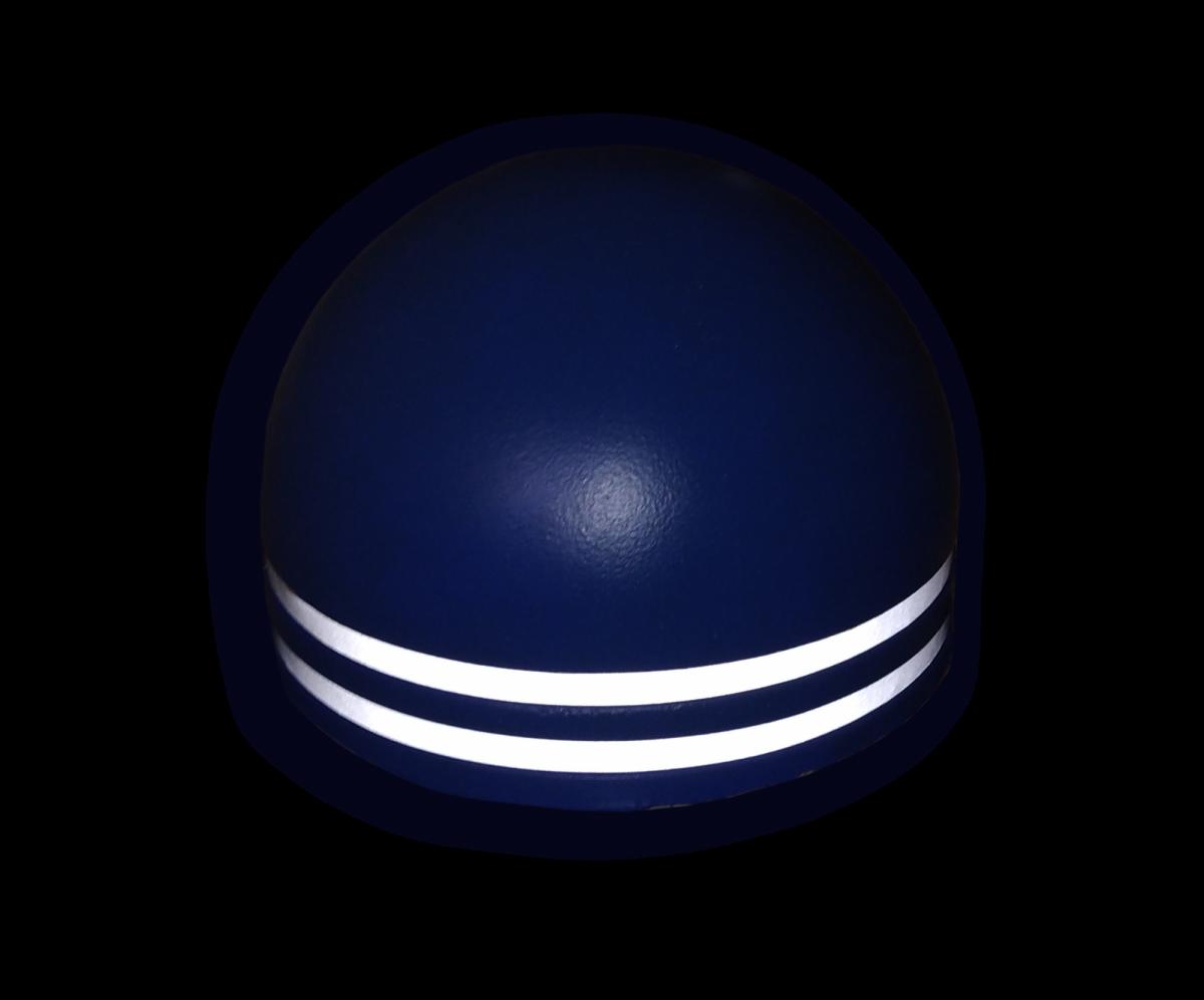 Полусфера бетонная увеличенная d500х340 мм пигментнная с двумя световозвращающими полосами