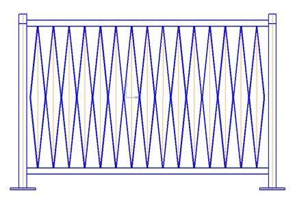 Перильное ограждение ПО-К (L=2 м; H=1,1м)