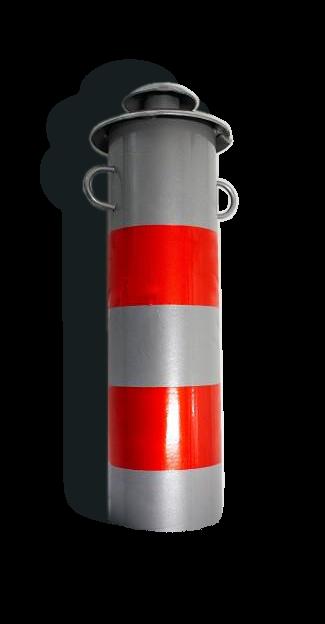"""Столбик парковочный съемный """"Город"""", d76мм, толщина 1,5мм серый (порошковая покраска) бетонируемый"""